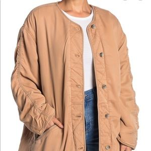 FREE PEOPLE ivy reversible jacket on camel color